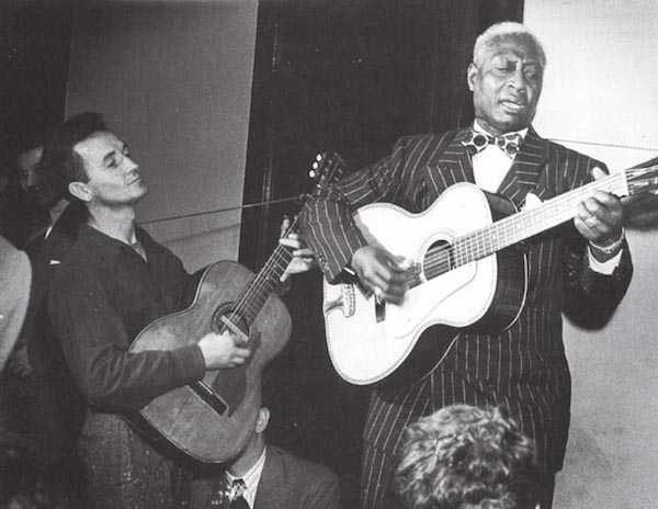 Woody Guthrie and Lead Belly
