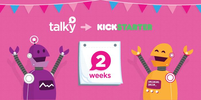 Talky Kickstarter banner