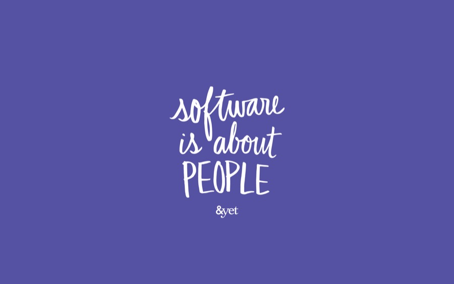 Software is about people wallpaper